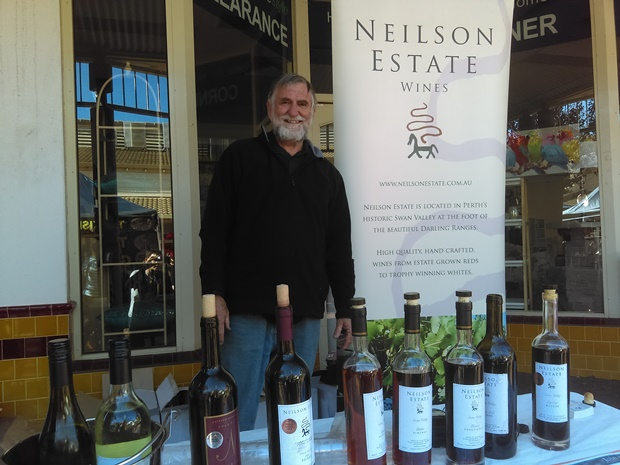 Jim Neilson at the Kalamunda Markets